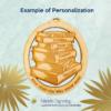 Personalized Book Lover Ornament