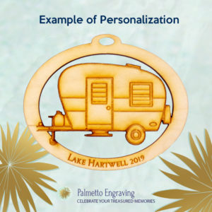 Personalized Camper Ornament