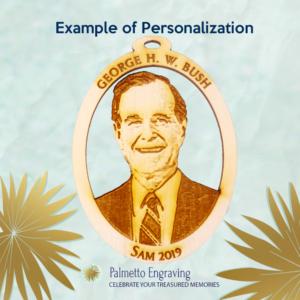 Personalized George HW Bush Ornament