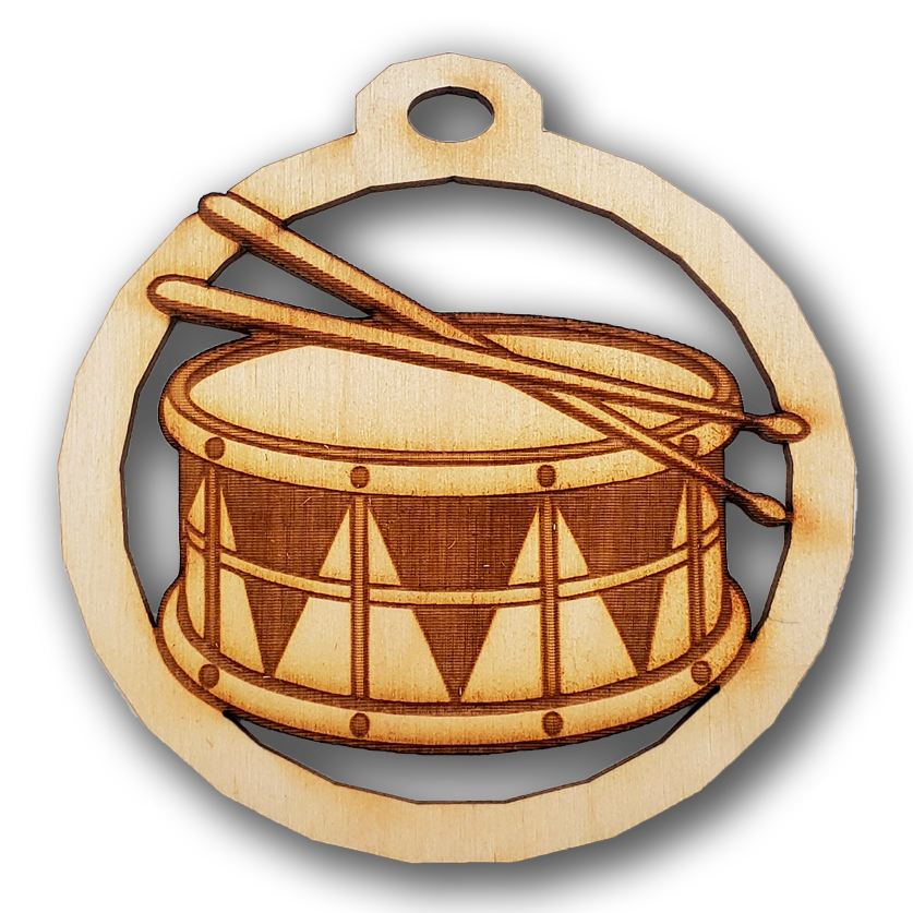 Personalized Snare Drum Ornament