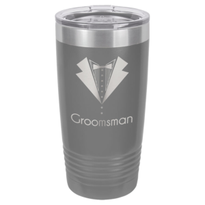 Personalized 20oz Grey Insulated Tumbler