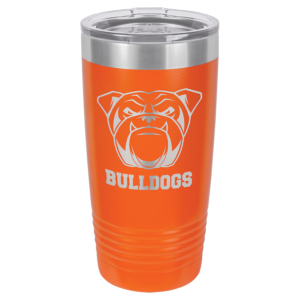 Personalized 20oz Orange Insulated Tumbler